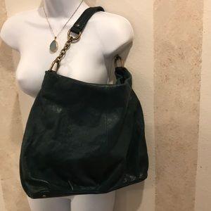 Nordstrom 100% Leather Purse Dark Teal Green